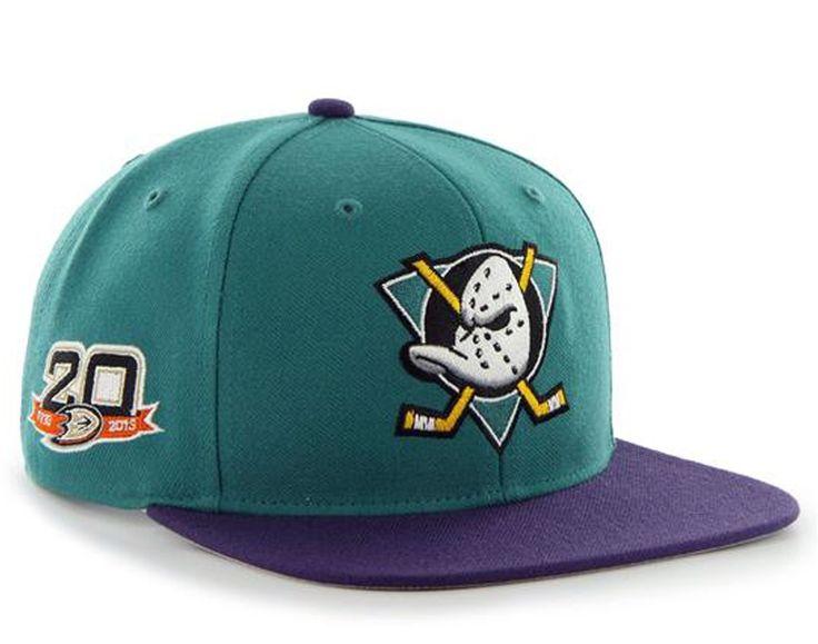 Anaheim mighty ducks 47 brand sure shot 2tone teal