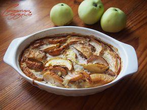 Kasza jaglana zapiekana z jabłkami, bakaliami i cynamonem
