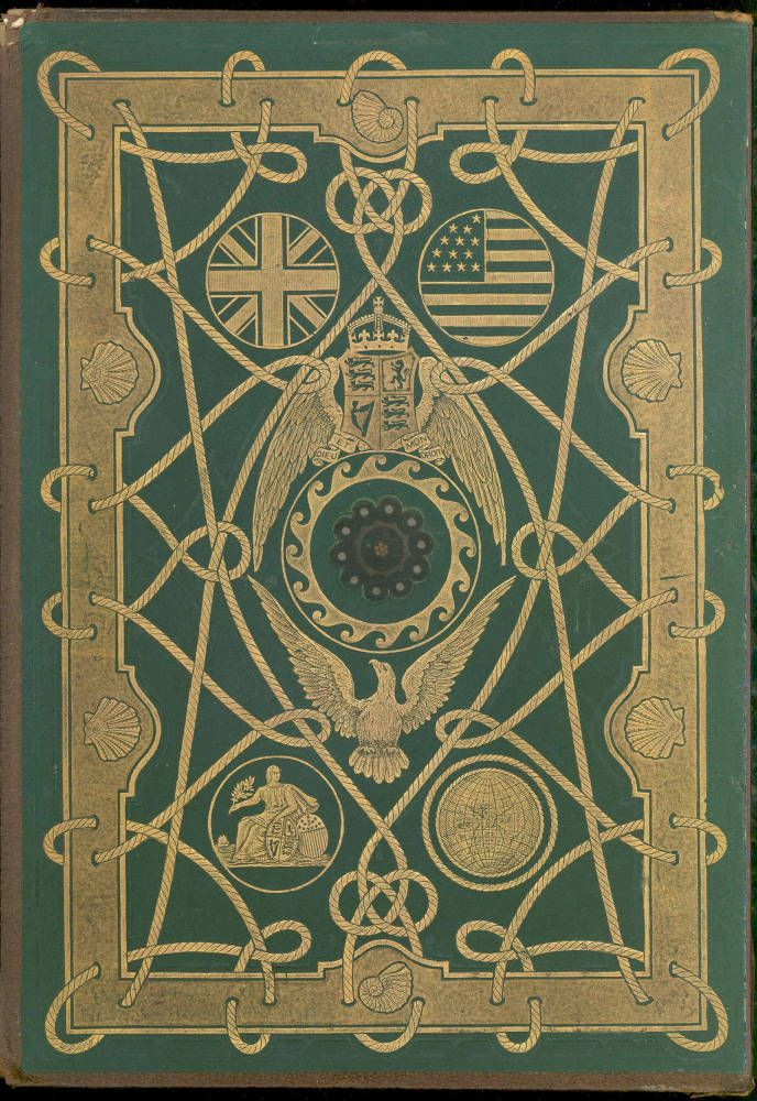 Cover design by Robert Dudley for W. H. Russell's The Atlantic Cable (1866)