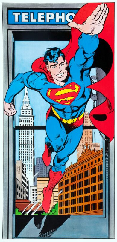 """""""Superman the Legend Returns,"""" a double-sided poster by Jose Luis Garcia-Lopez and Dick Giordano, printed in 1986"""