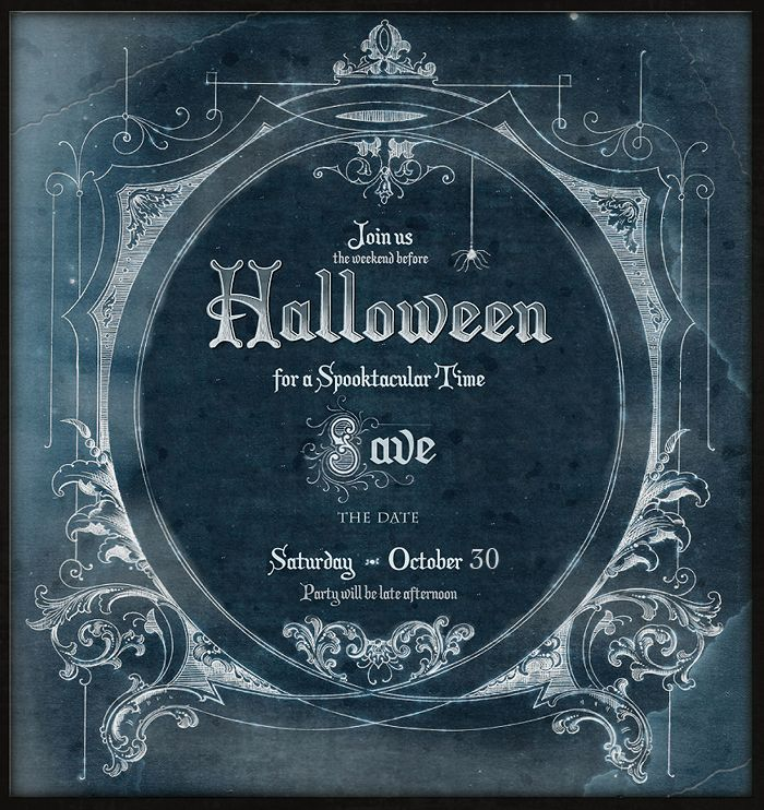 Halloween Party Invite Idea Chalkboard Style Using This Template