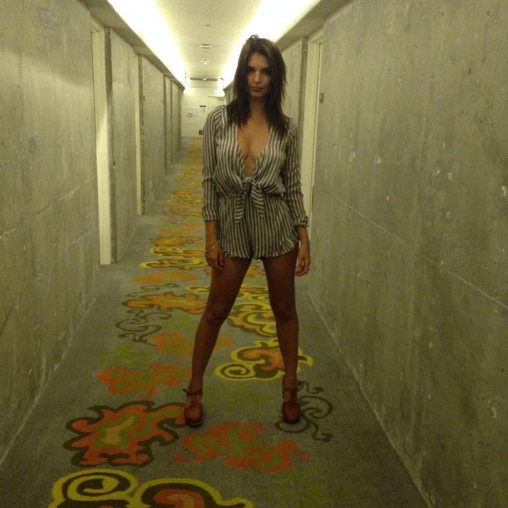 Emily in hotel Corridor