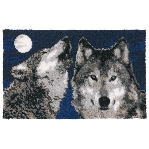 Don't just wear wolf tshirts... Proudly display this in your home. I <3 latch hook