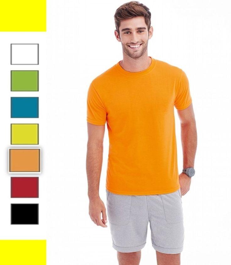 T-shirt Maglia sportiva uomo in polestere traspirante Tocco cotone Manica corta