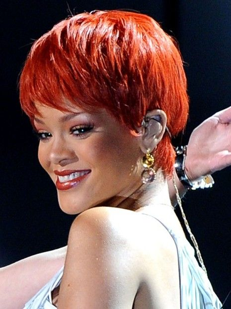 Rihanna Hairstyles image getty Rihanna Short Haircut Red Pixie For Summer Days