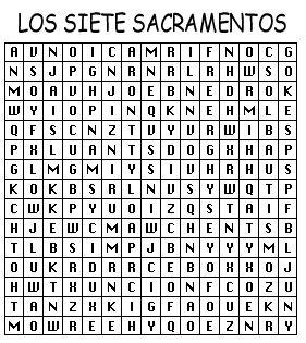 Juego de los Sacramentos para colorear y completar: Fuente: elrincondelasmelli  Vídeo que explica los Sacramentos para catequesis ...