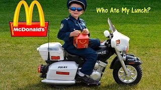 KIDZ MOTORZ Police Motorcycle Kid Cops Little Heroes Who Ate My Lunch Video Parody - YouTube