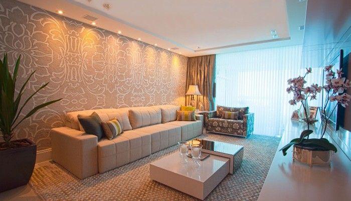 Sala de estar – parede do sofá destacada – KzaBlog | Casa e Decoração