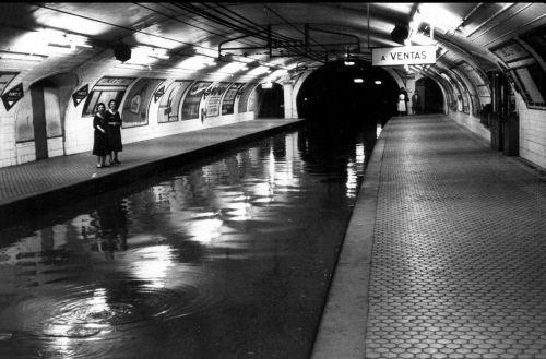 En 1959 el Metro de Madrid sufrió grandes inundaciones…
