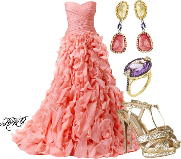 """Monique Lhuillier"" by r-viviane16 ❤ liked on Polyvore"