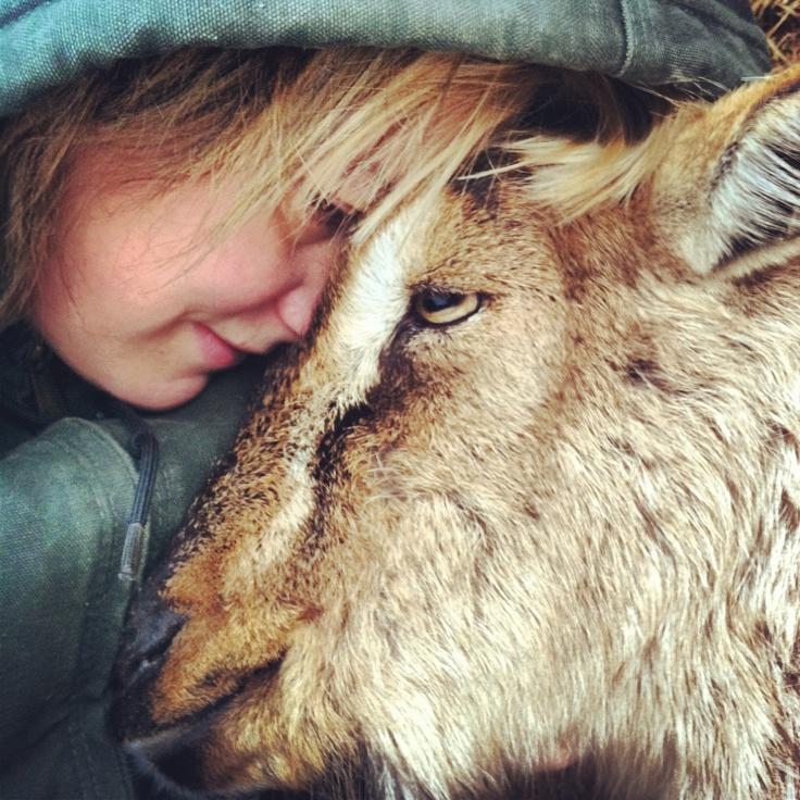 girl & her goat -- best friends