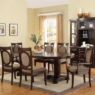 hokku designs regan  piece dining set: seven piece dining set