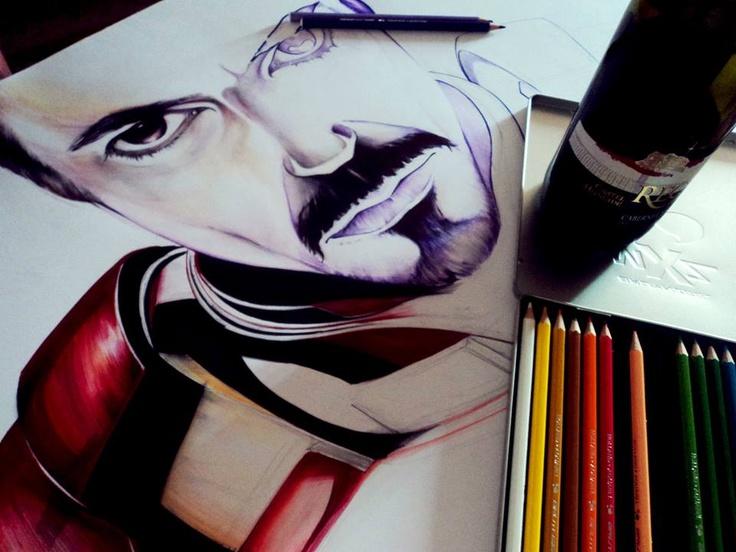 Iron Man Illustration.