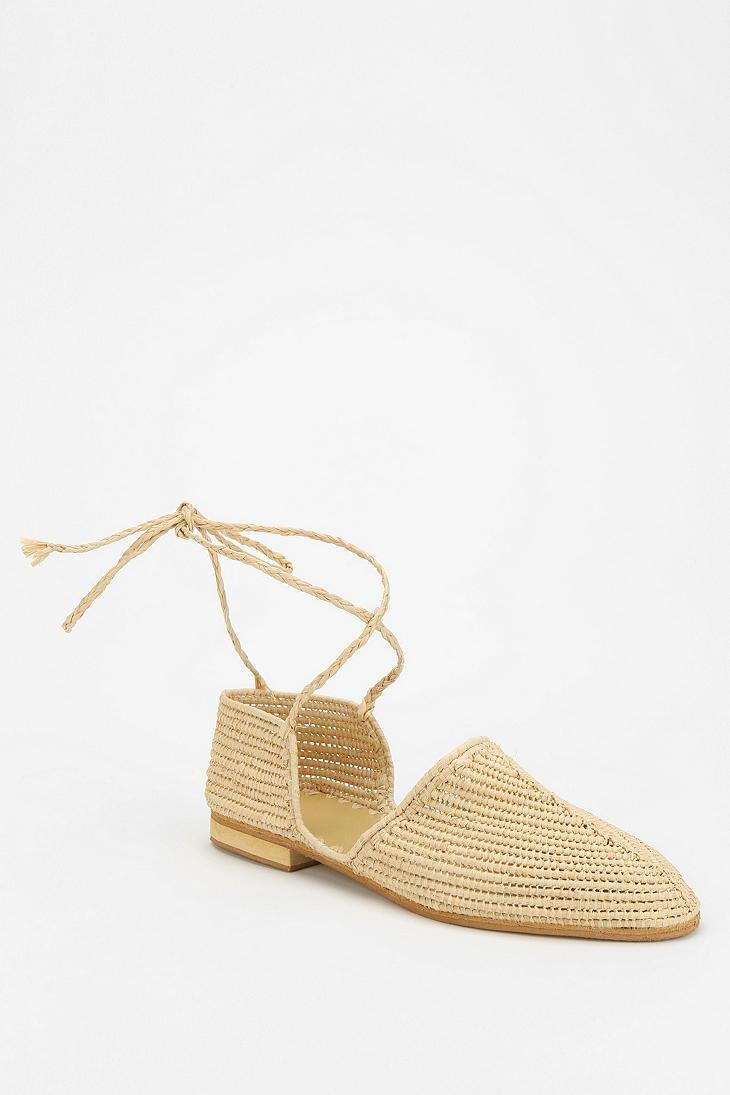 Proud Mary Raffia Lace-Up Skimmer #urbanoutfitters