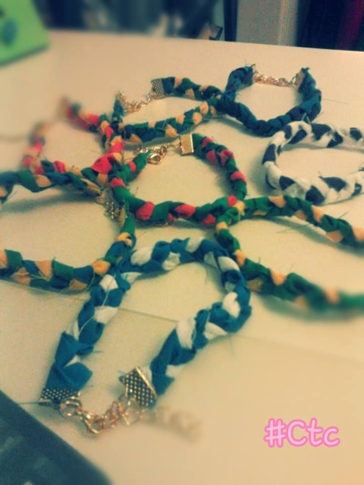 colourful unisex bracelets made of fabric..each one 3$ #ctc #collection #bracelet #fabric #unisex