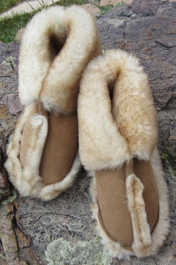 Genuine Sheepskin Slippers by TheSheepherder on Etsy