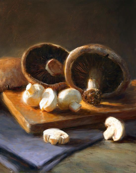 Mushrooms by Robert Papp - Mushrooms Painting - Mushrooms Fine Art Prints and Posters for Sale
