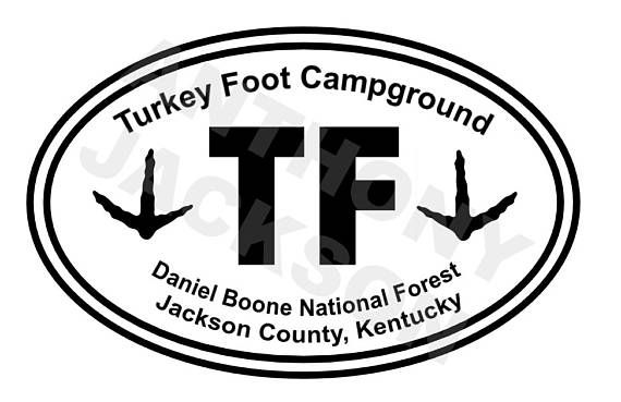 Turkey foot campground daniel boone national forest jackson county kentucky car decal vinyl decal oracle 651 decal