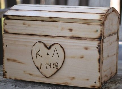 This would make an awesome card box for a wedding, but I would love this more as a large old fashioned chest to keep in my house to store things/memorabilia in! :)