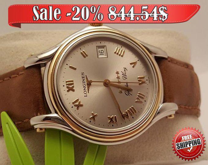 Винтажные longines золотые часы 18к швейцарские часы наручные мужчин женщин часы с Кожаный ремешок часы подарок для него смотреть для нее подарок