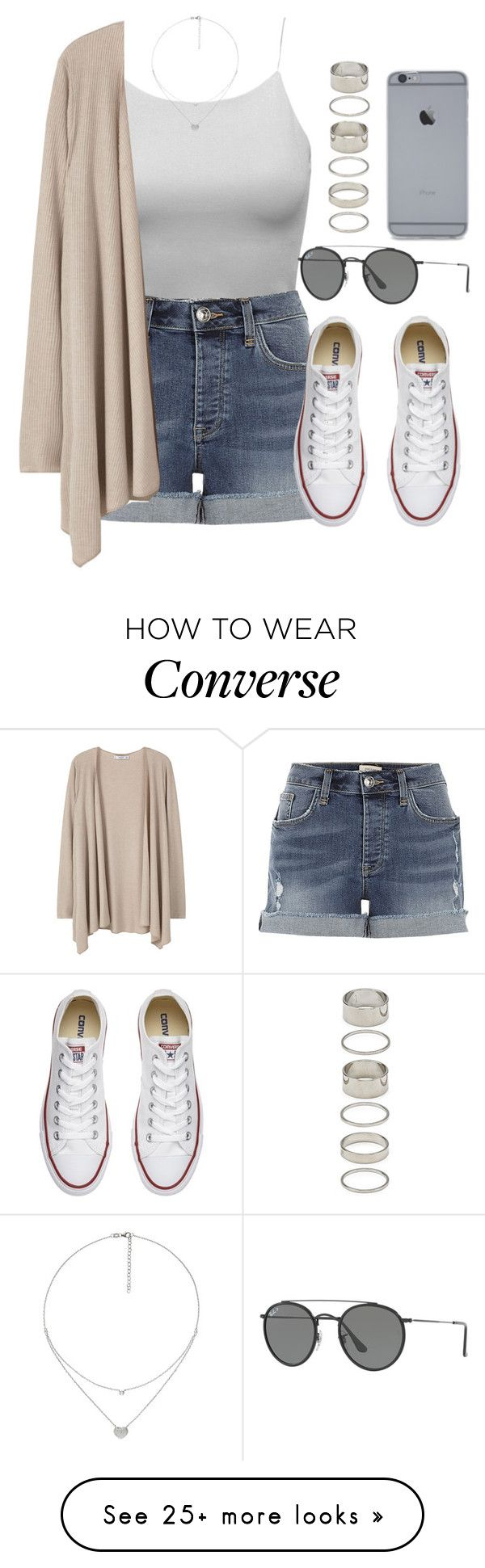 """Sin título #12084"" by vany-alvarado on Polyvore featuring River Island, MANGO, Converse, Ray-Ban, Forever 21 and Folli Follie"