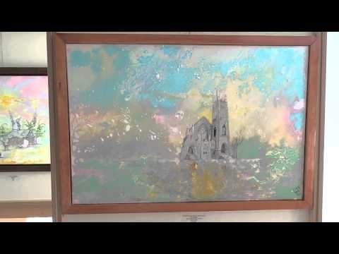 Retrospectiva y la serie Cuando el tiempo sopla del artista David Alvarado Mora 2015 Saint Jean de Matha Quebec