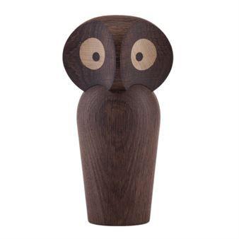 Owl Holzfigur - geräucherte Eiche - Architectmade