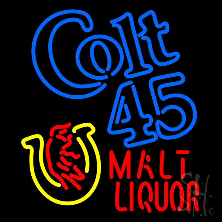 Colt 45 Malt Liquor Neon Sign 24 Tall x 24 Wide x 3 Deep, is 100% Handcrafted with Real Glass Tube Neon Sign. !!! Made in USA !!!  Colors on the sign are Blue, Yellow and Red. Colt 45 Malt Liquor Neon Sign is high impact, eye catching, real glass tube neon sign. This characteristic glow can attract customers like nothing else, virtually burning your identity into the minds of potential and future customers.