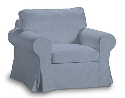 Bezug Für IKEA EKTORP Sessel Chenille Stoffe BAHAMA Blau Great Pictures