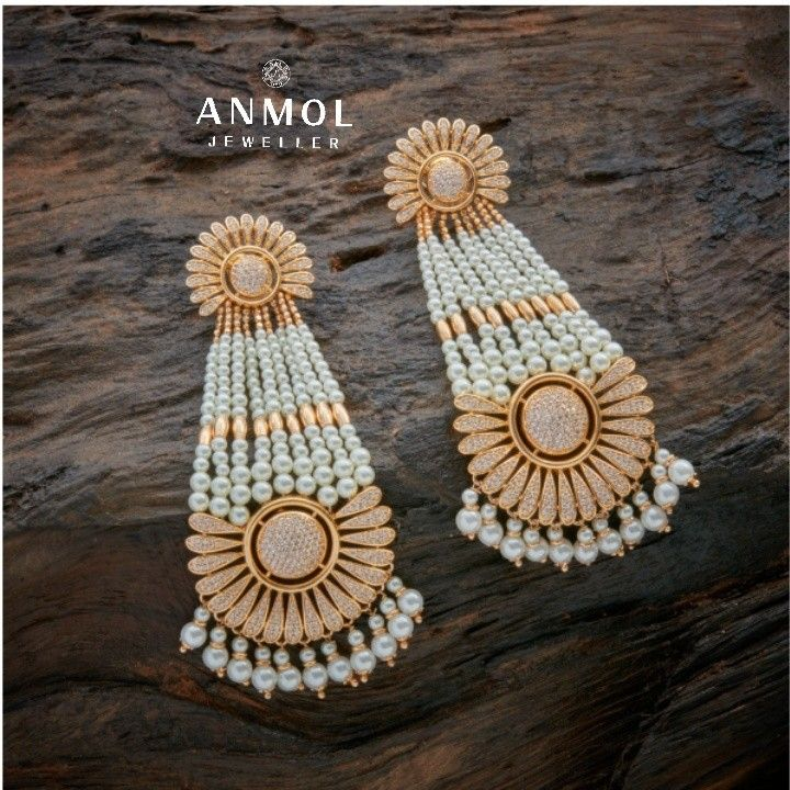 Pearl fall collection is the latest trend out.. Check out these pearl earings coming this fall 2017. #anmol_jeweller  #gold #earing #pearl #collection #stylish  #ethnic #wear #gorgeous #beautiful  #lavish #royal #tops #designer #diamond #jewel #jewelery  For queries call or watsapp: 9910401704.  To place order mail us at: Anmol.jeweller01@gmail.com