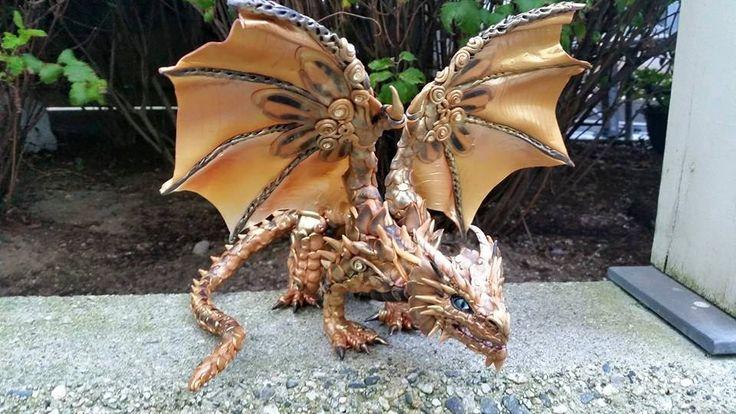 Cane Work Custom Dragon Sculpture by MakoslaCreations on Etsy