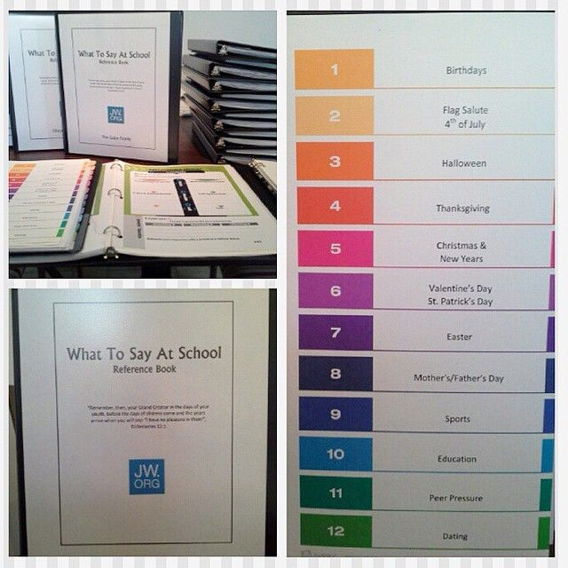 "A group of sisters in the Winfield, Kansas congregation made these reference books ""What To Say At School"" for families with kids in school to help bolster them for the new school year. Photo shared..."