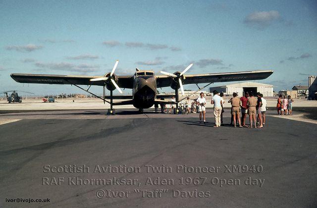 Scottish Aviation Twin Pioneer XM940 c/n 549 at RAF Khormaksar circa 1967 | Flickr - Photo Sharing!