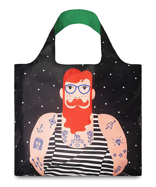 Look at this Black & Red Smoking Beard Tote on #zulily today!