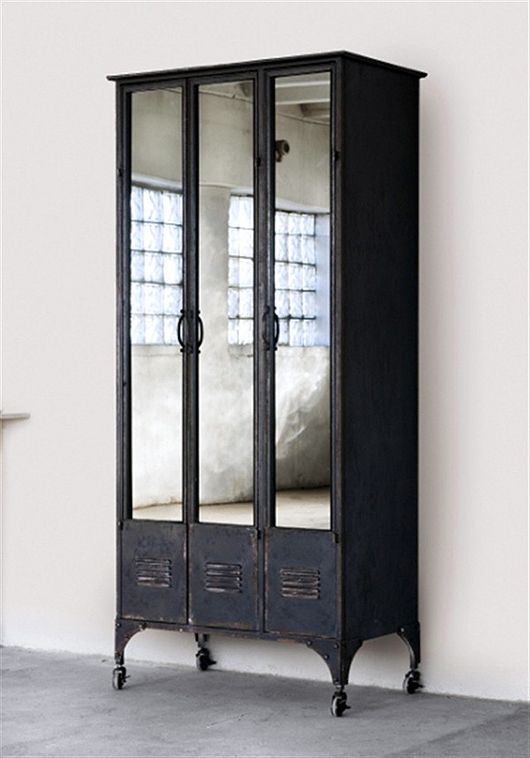 These old school lockers look amazing with mirrors added to them to create a bedroom wardrobe