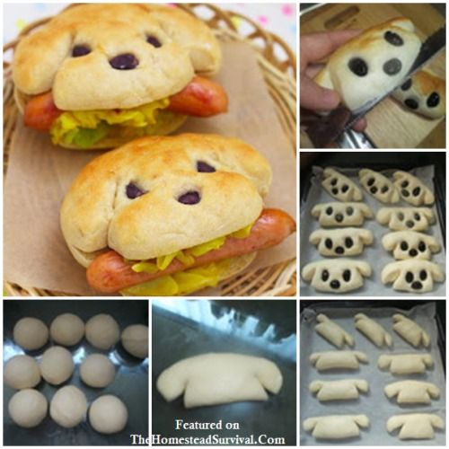 Creative Hot Dog Bun Recipe   Kid Friendly These look too cute to be eaten