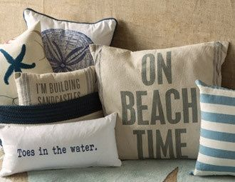 I pinned this from the Ocean Inspirations - Add Beach-Chic Style with Plush Pillows, Rugs