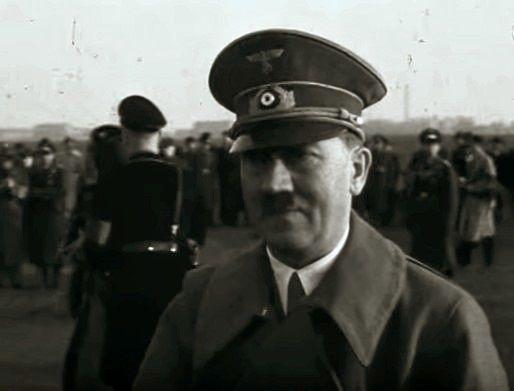 Adolf Hitler at Tempelhof, 1938.