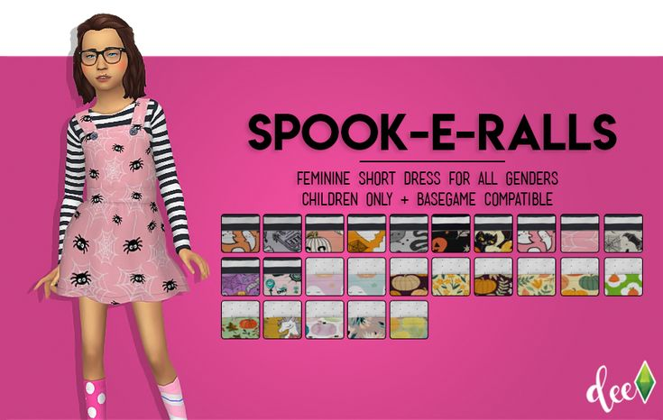 1264 best skirts and dresses images on pinterest casual wear cute deetron sims spoopy overalls for your spoopy kiddos come in about the fandeluxe Images
