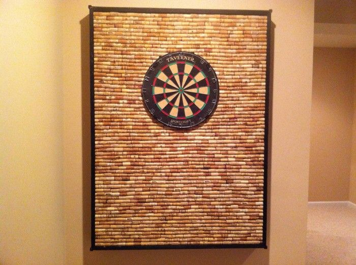 Man Cave dart board backboard. I think I could handle collecting the materials for this one!