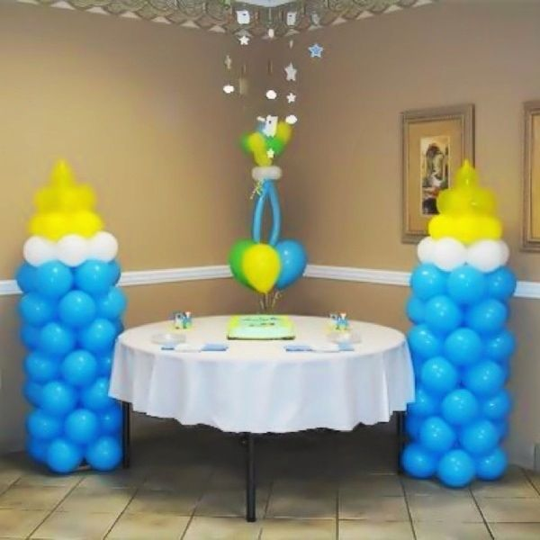 41 best party decor images on pinterest cowboy party for Baby bottle decoration