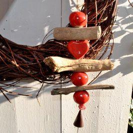 Treibholzkette Handmade, frostsicher mit Herz