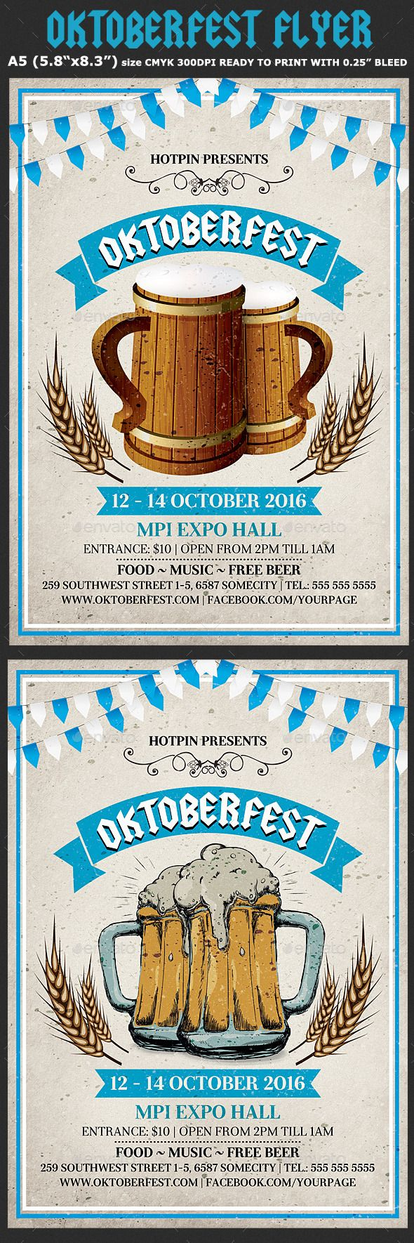 Oktoberfest Flyer Template PSD #design Download: http://graphicriver.net/item/oktoberfest-flyer-template-4/12795436?ref=ksioks