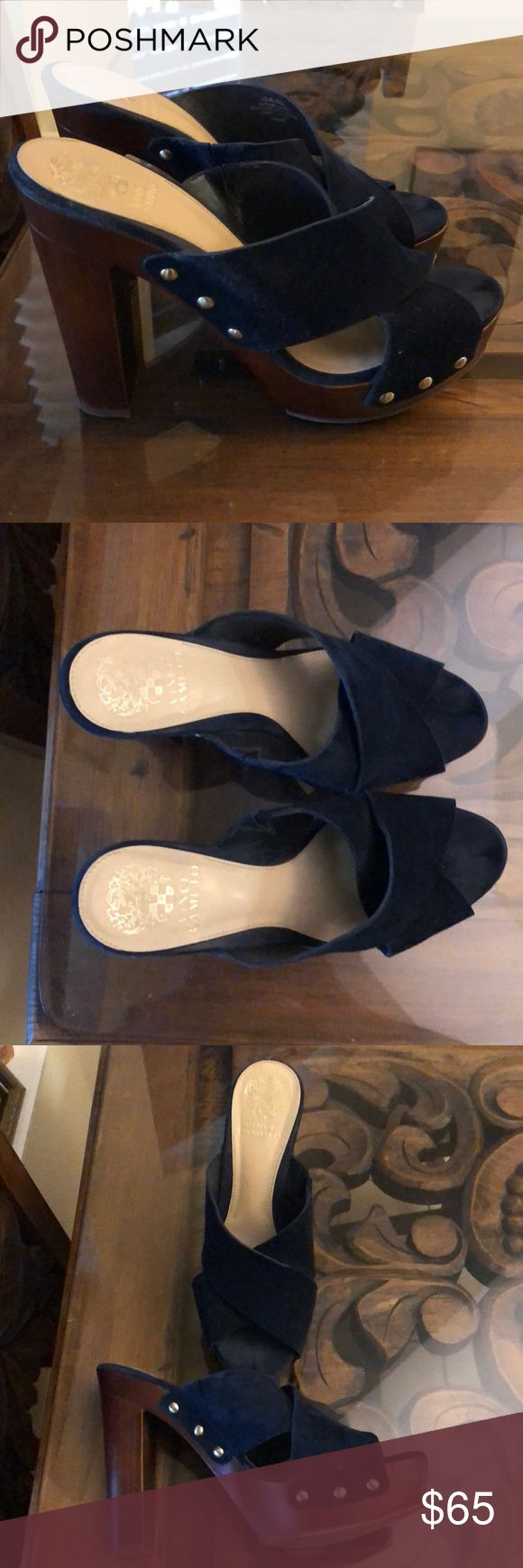 Vince-Camuto blue-suede platform shoes | My Posh Picks ...