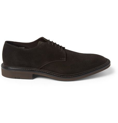 #Heschung Suede Derby Shoes