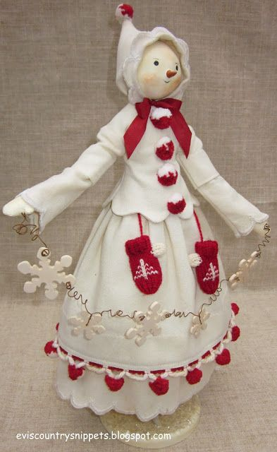 Evi 's Country Snippets Shop: WINTER WHITE SANTA'S AND SNOW GIRLS ONLINE SALE