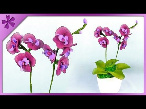 DIY Nylon orchid (ENG Subtitles) - Speed up #250 - YouTube