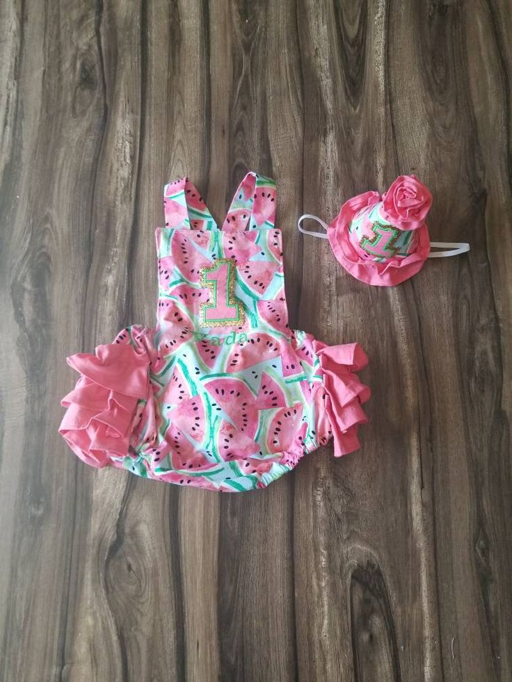 1st First Birthday Outfit One in a Melon Watermelon Summer
