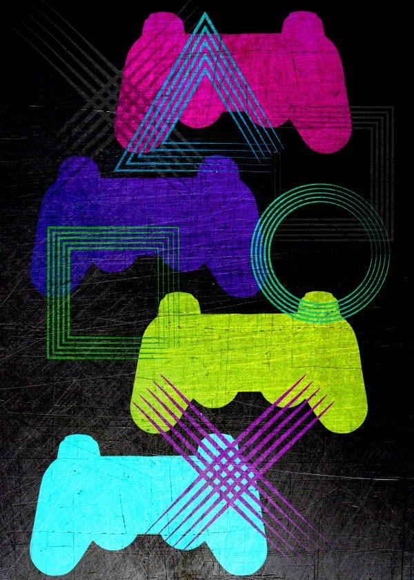Hard Core Poster by Emily Pigou #gaming #poster #videogame #cool #ps3 #displate #homedecor