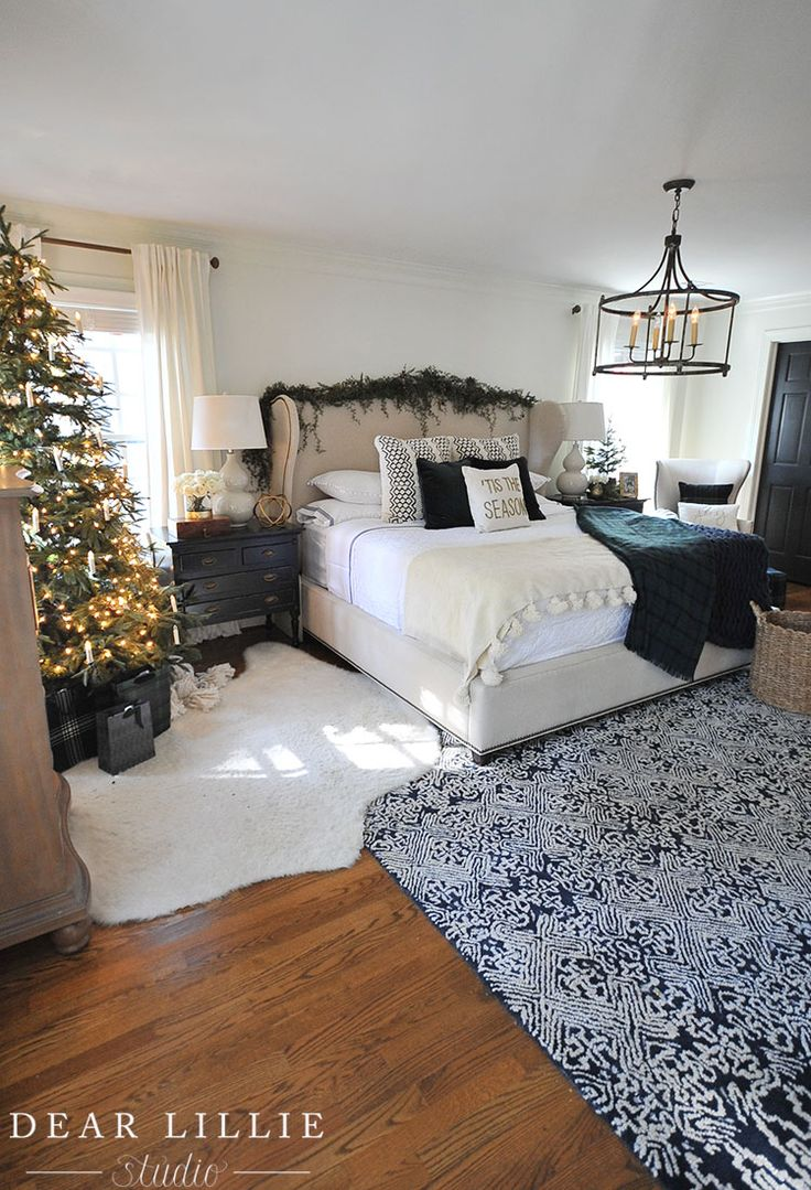 Seasons of Home - Some Christmas Touches in Our Master Bedroom - Dear Lillie Studio